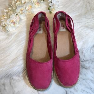 UGG Cicily Espadrilles Shearling Lined PINK Size 9